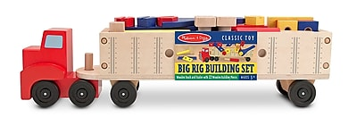 Melissa & Doug® Big Rig Building Truck Wooden Play Set