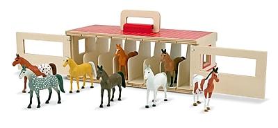 Melissa & Doug Take-Along Show-Horse Stable Play Set 919387