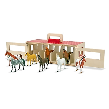 Melissa & Doug® Take-Along Show-Horse Stable Play Set