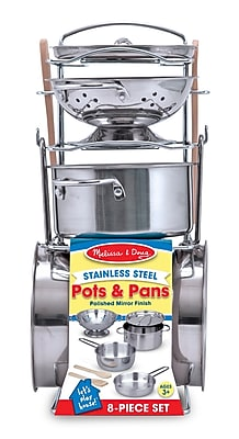 Melissa & Doug® Let's Play House Stainless Steel Pots & Pans Play Set