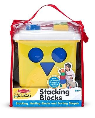 Melissa & Doug® Stacking Blocks Set Learning Toy