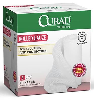 Medline® Curad® 5CT Prosorb Rolled Gauze, 3