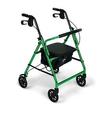 Medline® 250 lbs. Capacity Basic Comfort Rollators, Green