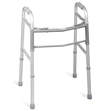 Medline® Two-Button Folding Walker Without Wheels, 32