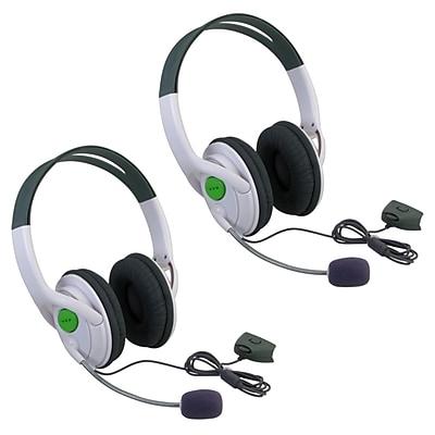 Insten 386195 2 Piece Game Headset Bundle For Xbox 360 971743