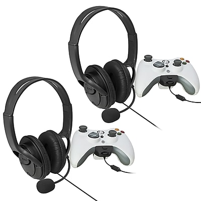Insten 480692 2 Piece Game Headset Bundle For Xbox 360 971814