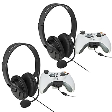 Insten® 480692 2 Piece Game Headset Bundle For Xbox 360