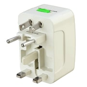 Insten® World Wide Travel Charger Adapter Plug, White (COTHPLUGUN01)