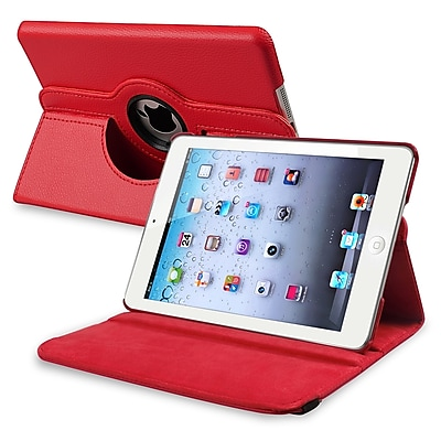 Insten PAPPIPDMLC20 Synthetic Leather Folio Case for Apple iPad Mini 1/2/3, Red