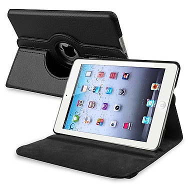 Insten PAPPIPDMLC19 Synthetic Leather Folio Case for Apple iPad Mini 1/2/3, Black