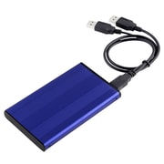"Insten® POTHSATA2507 2.5"" USB 2.0 Version 2 SATA HDD Enclosure, Blue"