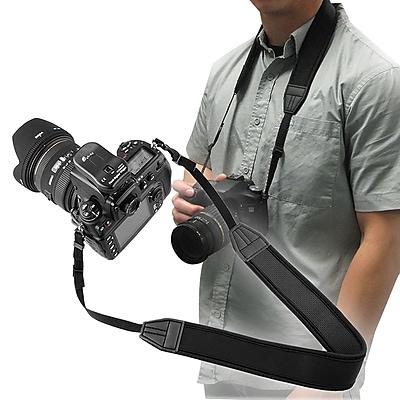 Insten® 3.5' Anti-Slip Weight Reducing Neoprene Neck Strap For Camera, Black