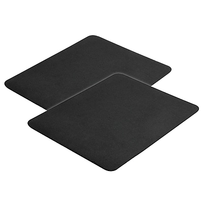 Insten® 2 Piece Mouse Pad For Optical/Trackball Mouse, Black