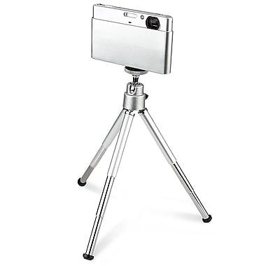 Insten® Aluminum Alloy Mini Retractable Tripod With Ball Head & Foldable Legs, Silver (BOTHXXXXTP09)