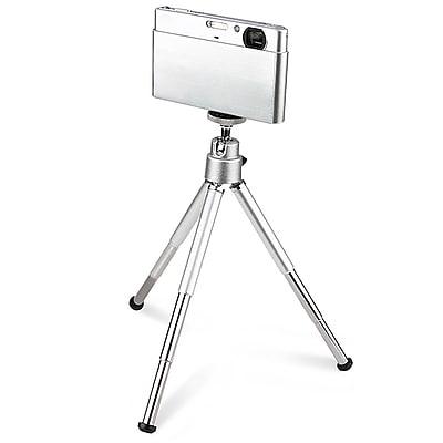 Insten® Aluminum Alloy Mini Retractable Tripod With Ball Head & Foldable Legs, Silver