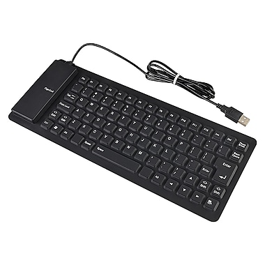 Insten® DOTHXXXXKB04 Foldable USB 2.0 Keyboard, Black