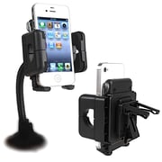 Insten® Swivel Windshield Phone Holder, Black