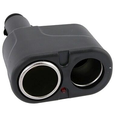 Insten - Répartiteur à 2 voies pour l'allume-cigarette de voiture, noir (DOTHXXXCCSP2)