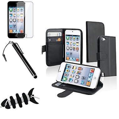 Insten® 1062785 4 Piece Universal Case Bundle For Apple iPod Touch 5th Gen