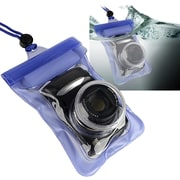 Insten® TPU Waterproof Camera Case With Rope, Blue