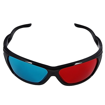 Insten 3D Glasses With Frame, Red/Blue 972059