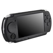 Insten® Silicone Skin Case For Sony PSP Slim 2000/3000; Black