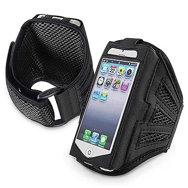 Insten® Deluxe Neoprene Sportband For Apple iPhone 5/5C/5S/Touch 5th Gen, Black