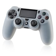 Insten Silicone Skin Case For Sony Playstation 4 Controller, Clear White by