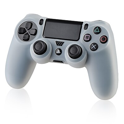 Insten® Silicone Skin Case For Sony PS4 Controller; Clear White