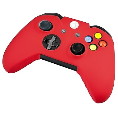 Insten® Silicone Skin Case For Microsoft Xbox One, Xbox One S Controller, Red