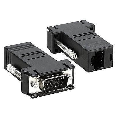 Insten® VGA Extender to RJ45 Male/Female Adapter, Black