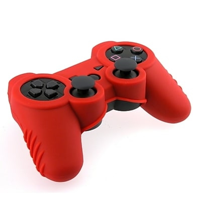 Insten® Silicone Skin Case For Sony PS3 Controller, Red