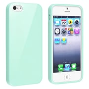 Insten® TPU Rubber Skin Case For Apple iPhone 5/5S, Mint Green Jelly