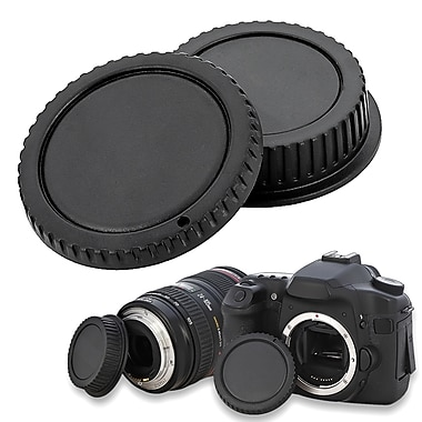 Insten® Camera Body Cap & Rear Lens Cover For Canon EOS, Black (BCANLENSCAP1)