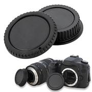 Insten® Camera Body Cap & Rear Lens Cover For Canon EOS, Black