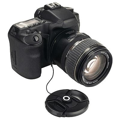 Insten® 310489 Camera Lens Cap Keeper Holder; Black, For Sony, Canon, Nikon, Olympus, Pentax