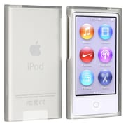 Insten® TPU Rubber Skin Case For iPod nano 7th Gen, Frost Clear White