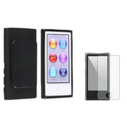Insten 954429 2 Piece Case Bundle for Apple iPod Nano 7th Gen, Black
