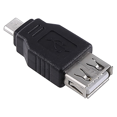 Insten® USB 2.0 A to Micro B Female/Male Adapter For Samsung Galaxy Note 3, Black (POTHUSBADX01)