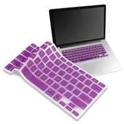 "Insten® Keyboard Skin Shield For 13"" Apple MacBook Pro White/Pro Series, Purple"
