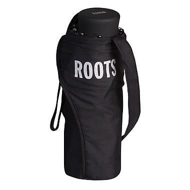 Roots Mini Manual Telescopic Umbrella, Black
