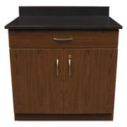 "Alera® Plus™ 35"" x 36"" Hospitality Base Cabinet With 2 Doors, Cherry/Granite Nebula"