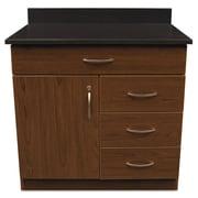 "Alera Plus™ 35"" x 36"" Hospitality Base Cabinet With 4 Drawers, Cherry/Granite Nebula"
