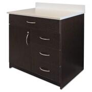 "Alera® Plus™ 35"" x 36"" Hospitality Base Cabinet With 4 Drawers, Espresso/White"
