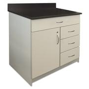 "Alera Plus™ 35"" x 36"" Hospitality Base Cabinet With 4 Drawers, Gray/Granite Nebula"