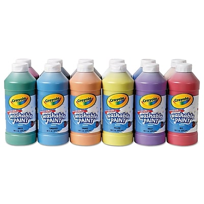 Crayola Non-toxic 16 oz. Washable Paint, , 12/Pack (54-9718)