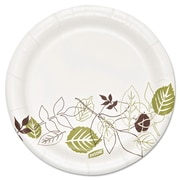 "Dixie Ultra® Pathways 5 7/8"" Heavyweight Paper Plates, White, 500/Pack"