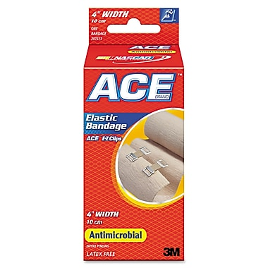ACE™ Elastic Bandage With E-Z Clips, 4