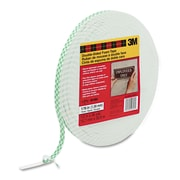 "3M™ Scotch® 36 yds. x 1/2"" x 62.5 mil Double Coated Foam Tape, White"