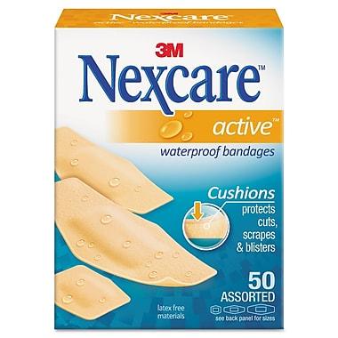 3M™ Nexcare™ Active Waterproof Bandages, 50/Box